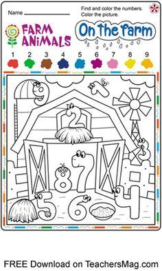 Free Printable Farm Animal Worksheets for Preschoolers Preschool Activity Sheets, Preschool Number Worksheets, Farm Activities, Numbers Preschool, Free Preschool, Preschool Lessons, Preschool Farm Theme, Farm Lessons, Farm Unit