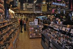 Easy Street Records West Seattle.  Cafe and Music store.  Vinyl shopping heaven!