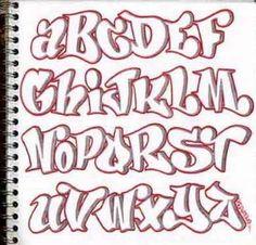 Alphabet Graffiti Letters by keren B.  Parker