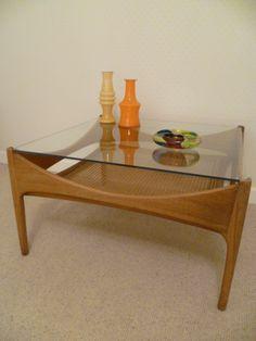 Vintage Retro 50s 60s Teak & Glass Coffee Table DANISH  £119.00