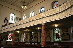Elegant Georgian architecture in Wesley's Chapel, London. The chapel was built in 1778 on the designs of John Wesley (1703-91), founder of Methodism.