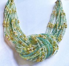 Green Gold Necklace  Knot Necklace  Taipei Green Tree by DuMoments