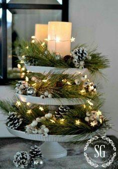 Diy Christmas Lights, Rustic Christmas, Christmas Tree, Christmas 2017, Christmas Projects, Christmas Wreaths, Christmas Holidays, Christmas Movies, Christmas Music