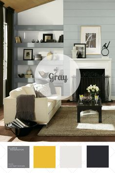 You may have seen gray pop up in your favorite home design stores as a new neutral that's both playful and sophisticated. This color works well with most color combinations but thrives with saturated colors like mustard and white. Vote for your favorite color palette on HGTV.com. >> http://www.hgtv.com/design/packages/color-vs-color/vote-for-your-favorite-color-palette?soc=pinterest