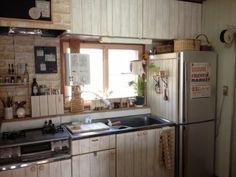 築28年のキッチンをレトロカフェ風に*【完成編】 [暮らしニスタ] 暮らしのアイデアがいっぱい♪