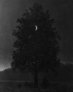 """""""The Moon & René Magritte. Magritte returned throughout his life as an artist to the image of the moon. It was part of his symbolic repertoire. Nearly every ancient culture had lunar deities & invested the moon with mythical powers. Rainer Maria, Images Esthétiques, Good Night Moon, Art Plastique, Night Skies, Art Inspo, Mystic, Art Photography, Art Gallery"""