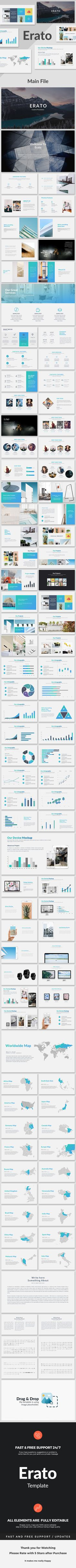 Buy Erato - Creative Powerpoint Template by SlidesX on GraphicRiver. Easy and fully editable in PowerPoint (shape co. Presentation Design Template, Presentation Slides, Layout Template, Keynote Template, Powerpoint Themes, Creative Powerpoint Templates, Slide Design, Web Design, Graphic Design