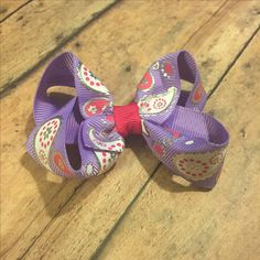 "Only 2 available!!! 3"" hair bow! Purple pinkand white paisley pattern! #bowtifulblessings #bbgifts #handmade #etsyseller #etsy #etsyusa #etsyshop #hairbow #girlfashion #shoplocal #shopsmall #girlboss #paisley #bow #hairbow #hairaccessory #new #babygirl"