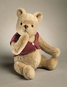 "Name: Classic Pooh Description: mohair plush, fully jointed. Date of Release: Edition Notes: Ltd. Based on the ""Winnie-the-Pooh"" works. Milne and E. Winnie The Pooh Plush, Vintage Winnie The Pooh, Eeyore, Tigger, Doll Museum, Love Bears All Things, Photo Vintage, Vintage Teddy Bears, Pooh Bear"