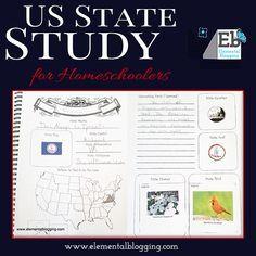 US State Study Notebook {Free Download!} | Elemental Blogging