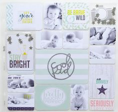 Free PDF download with instructions to make this page.  Featuring the September Skies Project life kit by Heidi Swapp.