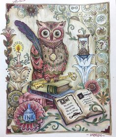Creative Haven Owls Owl Coloring Pages, Coloring Books, Illustrations, Illustration Art, Owl Always Love You, Beautiful Owl, Polychromos, Coloured Pencils, Owl Art