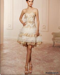 short wedding dress. Would never wear, but it is gorgeous!
