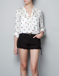 DOGS PRINTED BLOUSE - ZARA