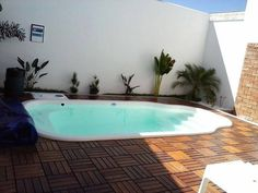 fibratec piscinas - Pesquisa Google Apartment Checklist, My First Apartment, Small Pools, Plunge Pool, Jacuzzi, My House, Beach House, Nature, Backyard