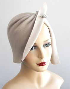 Felt Cloche Hat At Etsy.Com