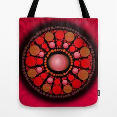 Red Sun, Tote Bags, Bright, Busy Bags, Carry Bag