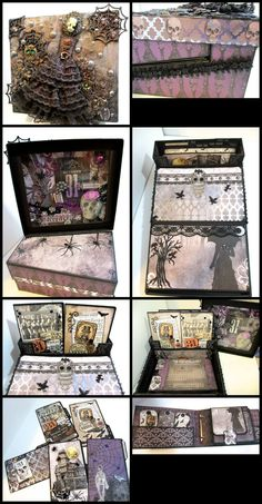 This awesome home decor piece with multiple mini albums is as fun to make as it is to look through, designed by Kathy Orta - http://shop.paperphenomenon.com/The-Memory-Box-TUT-028.htm