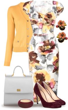 "Love this outfit color combo- ummm, just everything.   ""Floral Fantasy"" by yasminasdream on Polyvore"