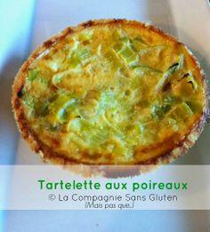 SANS GLUTEN SANS LACTOSE: Tartelette aux poireaux sans gluten et sans lactose