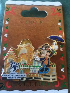 Mary Poppins Grand Floridian Gingerbread 2015 Limited Edition Pin