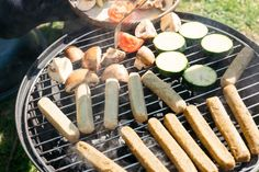 Grilling vegan sausages and veggies  free high-resolution photo about Food and Drink barbecue barbecuing bbq Charcoal closeup cooking courgette fire flame food green grill grilled grilling healthy juicy kebab meal onion party preparation preparing roasted salad sausages skewers summer tasty vegan vegetable vegetables vegetarian veggie zucchini