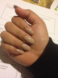 Oval nude nails