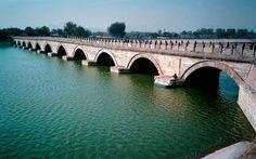 Pont Marco Polo, enjambant la rivière Yongding à Wanping Pékin Chine