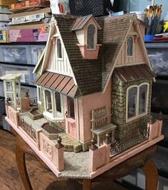 My Miniature Madness: Storybook Cottage - Laying The Groundwork Victorian Dollhouse, Modern Dollhouse, Diy Dollhouse, Play Houses, Bird Houses, Doll Houses, Miniature Houses, Miniature Dolls, Doll House Plans
