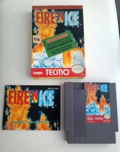 Fire 'N Ice Nintendo NES and Tecmo Very RARE Entertainment System Solomon's Key 2 Complete with box and instruction booklet by TreasuresMemories on Etsy