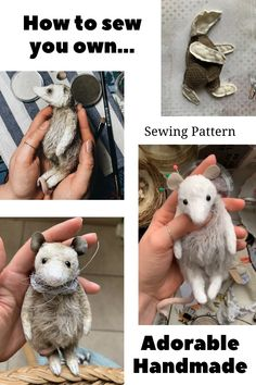 Plushie Patterns, Animal Sewing Patterns, Sewing Stuffed Animals, Stuffed Animal Patterns, Handmade Stuffed Animals, Sewing Basics, Basic Sewing, Sewing Crafts, Sewing Projects