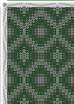 Hand Weaving Draft: kw023, Crackle Design Project, Ralph Griswold, 6S, 6T - Handweaving.net Hand Weaving and Draft Archive