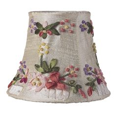 Ribbon Embroidered Chandelier Lampshade