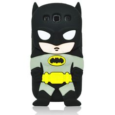 3D Cartoon Black Batman Soft Silicone Case Cover for Samsung Galaxy SIII S3 i9300