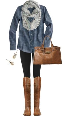 """Leather & Leggings"" by qtpiekelso on Polyvore"
