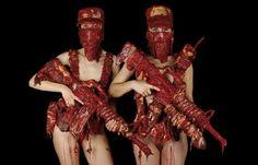 Juxtapoz Magazine - Fruit Skulls and Meat Guns by Dimitri Tsykalov