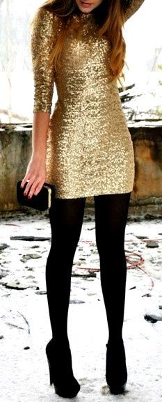 Sequins and Opague Stockings