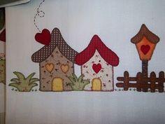 Resultado de imagen de moldes patchwork casas