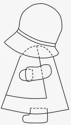 TAHITI Sunbonnet Sue block at MooseStash Quilting. Design by Debra Kimball - International Sunbonnet Sue Applique Templates, Applique Patterns, Applique Quilts, Applique Designs, Embroidery Applique, Paper Embroidery, Templates Free, Sunbonnet Sue, Patchwork Patterns
