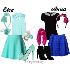 """""""Elsa and Anna"""" by em-ily-ann on Polyvore"""