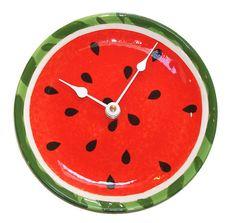 Watermelon Clock - Unique Wall Clock - Small Clock - Kitchen Clock - Fruit Clock - Kitchen Decor - Summer Clock - Beach House - No. 1301