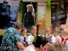 Flötenmusik beim Fest