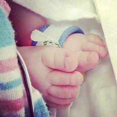 Tiny baby feet. #preemie #nicu