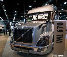 Volvo Trucks showcased its latest fuel efficiency improvements, including a new XE – eXceptional Efficiency – powertrain package for linehaul Volvo Trucks, New Trucks, Custom Peterbilt, Lineup, Articles, America, Cars, Google Search, Blog