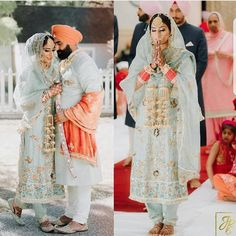 I adore the idea of bridal Salwar kameez Sikh Wedding Dress, Punjabi Wedding Suit, Punjabi Wedding Couple, Punjabi Bride, Wedding Suits, Bridal Dresses, Wedding Couples, Punjabi Couple, Wedding Ideas