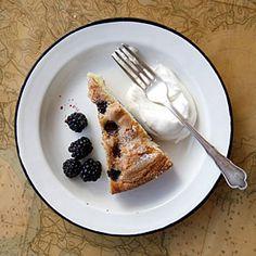 Buttermilk Cake with Blackberries | MyRecipes.com