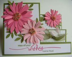 . Z Cards, Easy Cards, Cool Cards, Stampin Up Cards, Fancy Fold Cards, Folded Cards, Side Step Card, Stepper Cards, Leo Traits