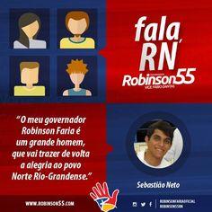 O RN fala o que quer: ROBINSON GOVERNADOR!   #todoscomrobinson55 #tôcomrobinson #é55