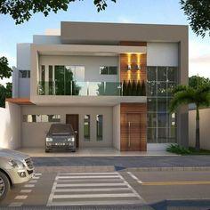 Architecture House Minimalist modern minimalist house design ideas for your 43 > Fieltro. Modern House Facades, Modern Exterior House Designs, Modern House Design, Exterior Design, Modern Buildings, Bungalow House Design, House Front Design, Contemporary House Plans, Modern House Plans