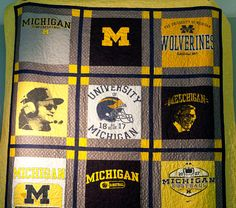 ABSOLUTELY CUSTOM T shirts quilts made from the by FromMeToYoua2, $100.00